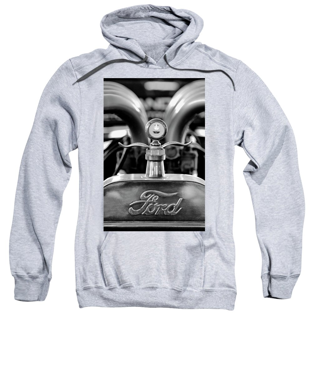 1923 Ford Sweatshirt featuring the photograph 1923 Ford Hood Ornament 2 by Jill Reger