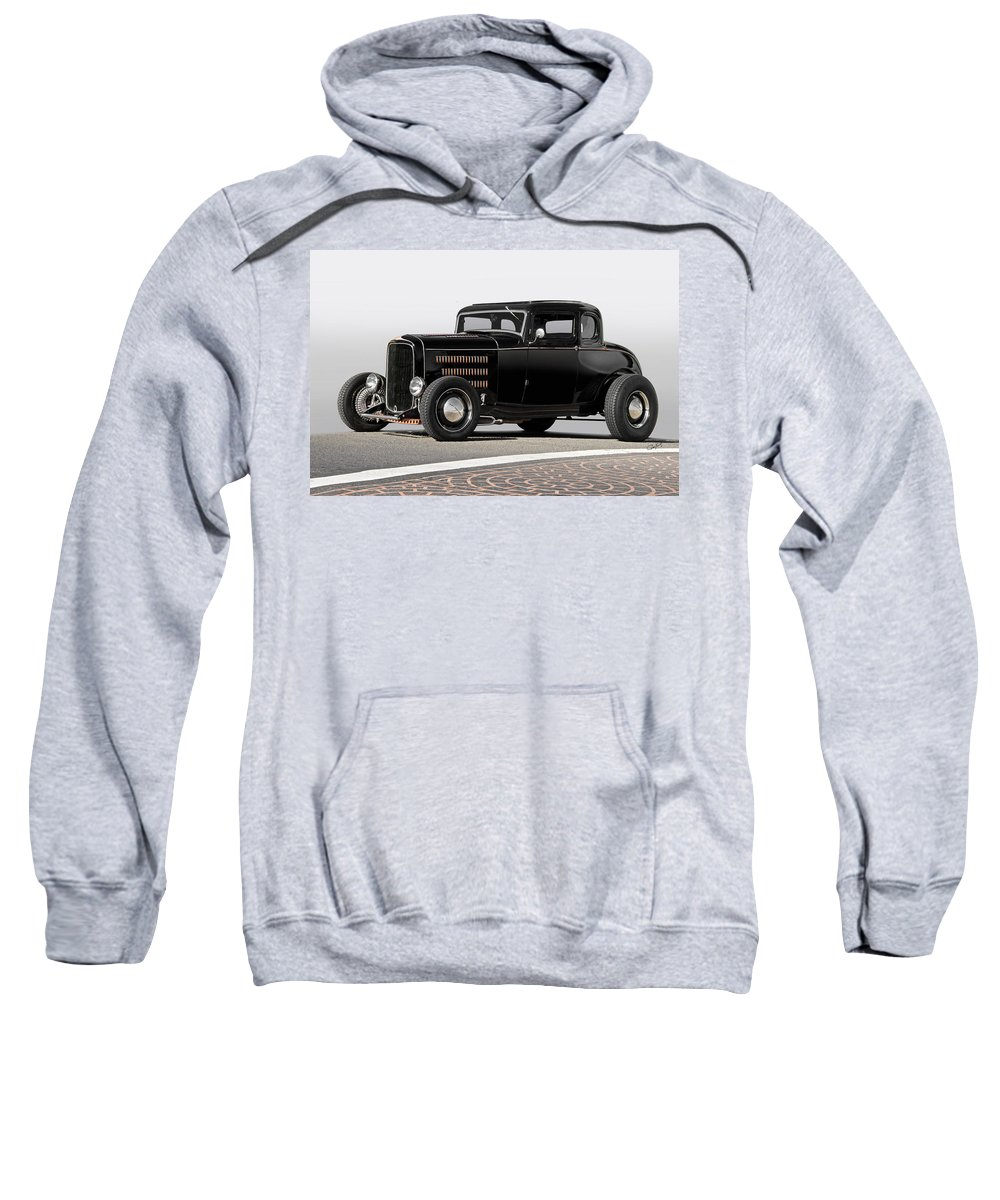 Auto Sweatshirt featuring the photograph 1932 Ford 'louvered' Coupe by Dave Koontz