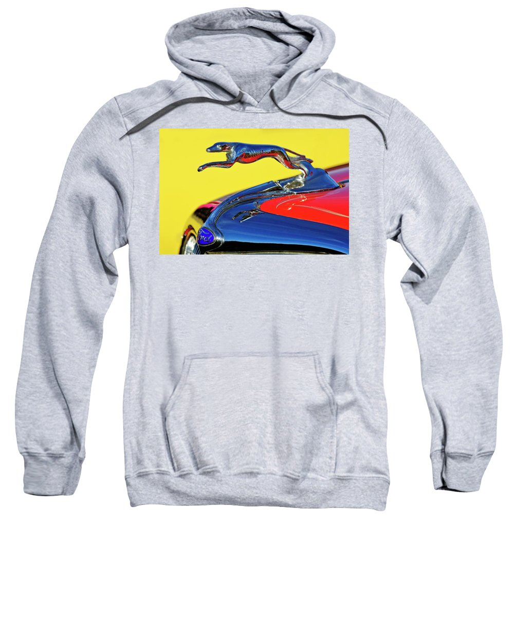 1934 Ford Sweatshirt featuring the photograph 1934 Ford Hood Ornament by Jill Reger