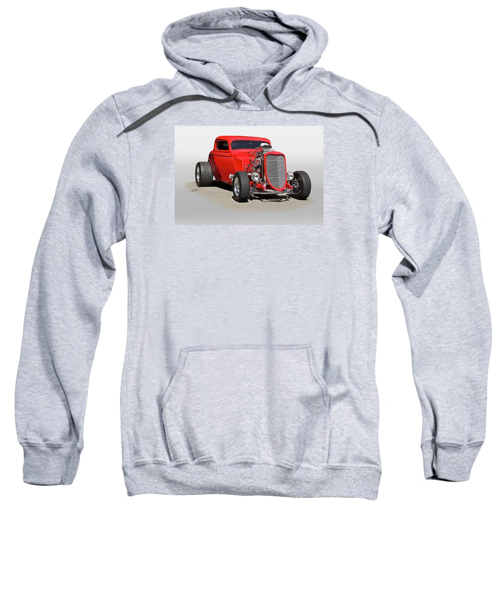 Auto Sweatshirt featuring the photograph 1934 Ford 'mean And Nasty' Coupe by Dave Koontz