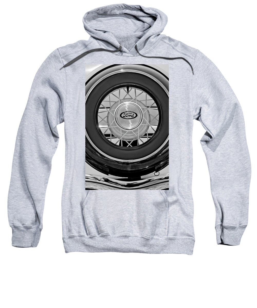 1934 Ford Roadster Sweatshirt featuring the photograph 1934 Ford Roadster Spare Tire 2 by Jill Reger