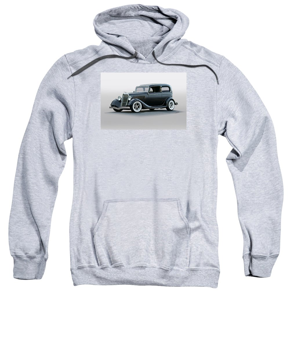 Auto Sweatshirt featuring the photograph 1934 Ford 'victoria' Coupe by Dave Koontz