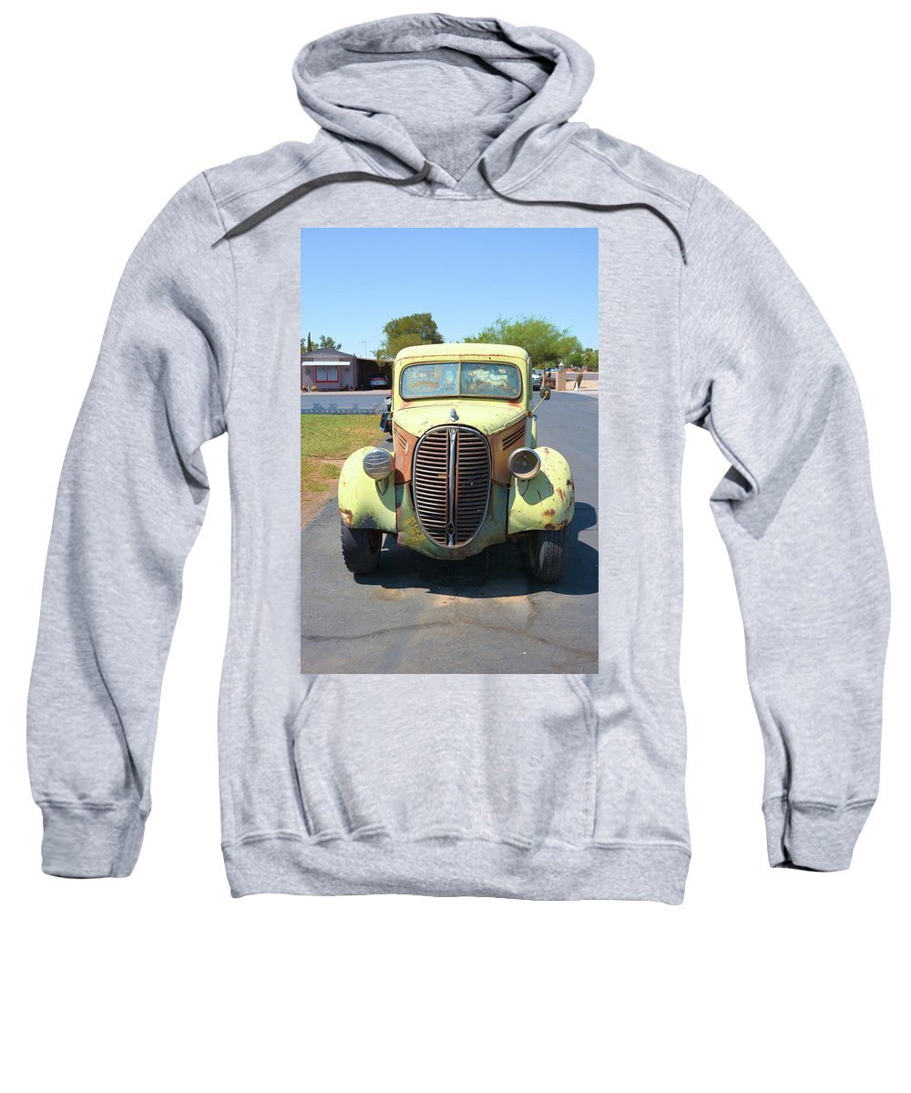 Transportation Sweatshirt featuring the photograph 1938 Ford Truck by Richard Jenkins