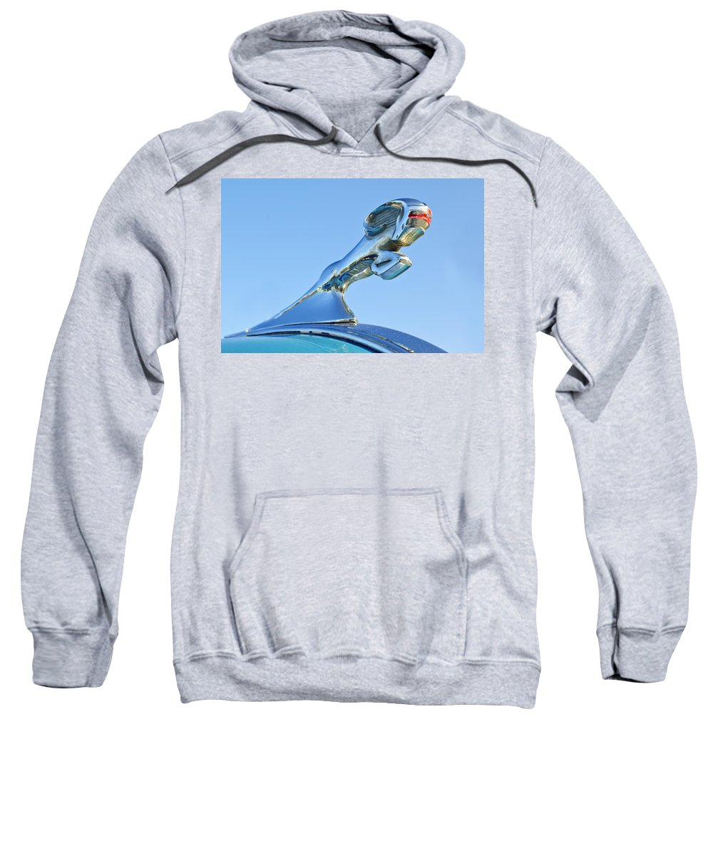 1940 Dodge Business Coupe Sweatshirt featuring the photograph 1940 Dodge Business Coupe Hood Ornament by Jill Reger