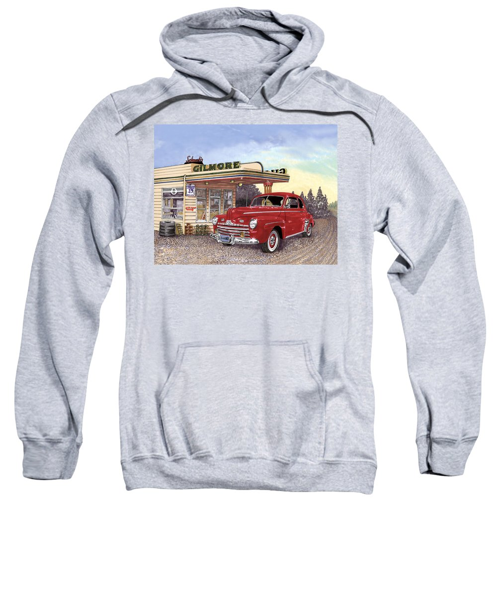 1946 Ford Deluxe Coupe Art Sweatshirt featuring the painting 1946 Ford Deluxe Coupe by Jack Pumphrey