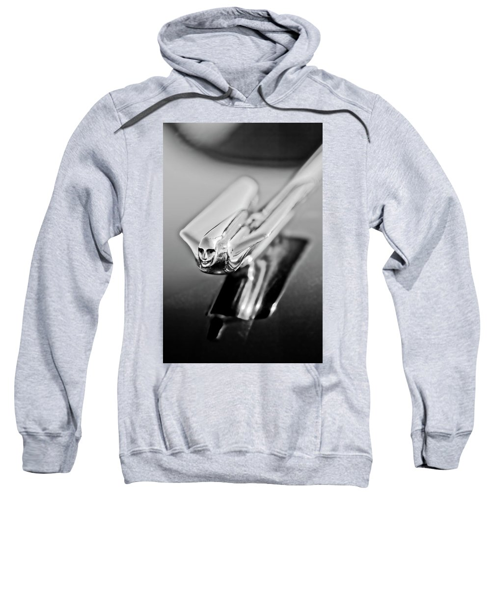 1949 Cadillac Sweatshirt featuring the photograph 1949 Cadillac Hood Ornament 4 by Jill Reger