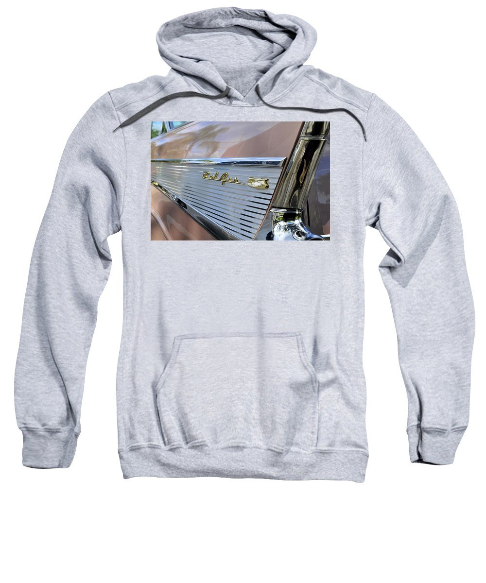 1957 Chevy Sweatshirt featuring the photograph 1950s Fins by David Lee Thompson