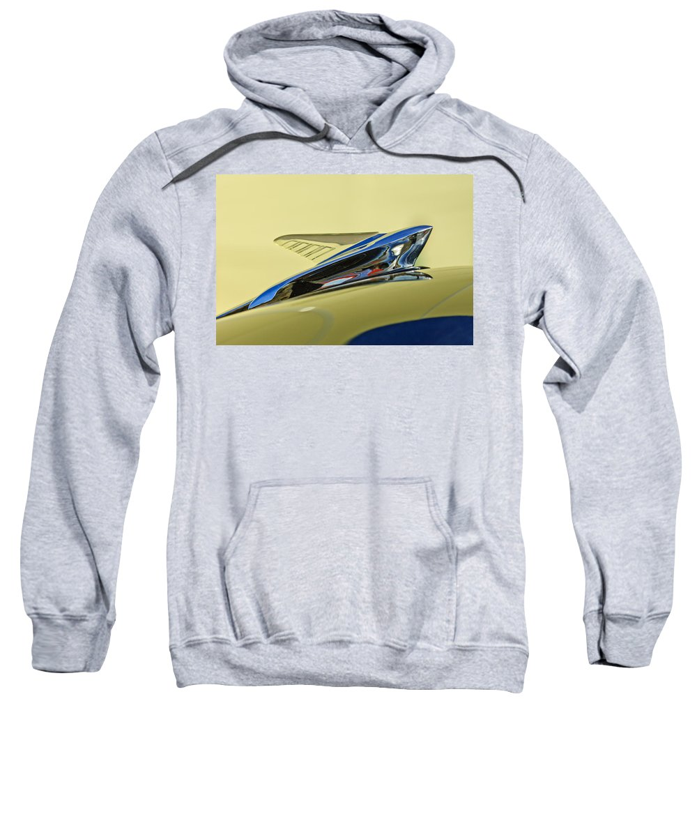 1951 Ford Sweatshirt featuring the photograph 1951 Ford Hood Ornament 2 by Jill Reger