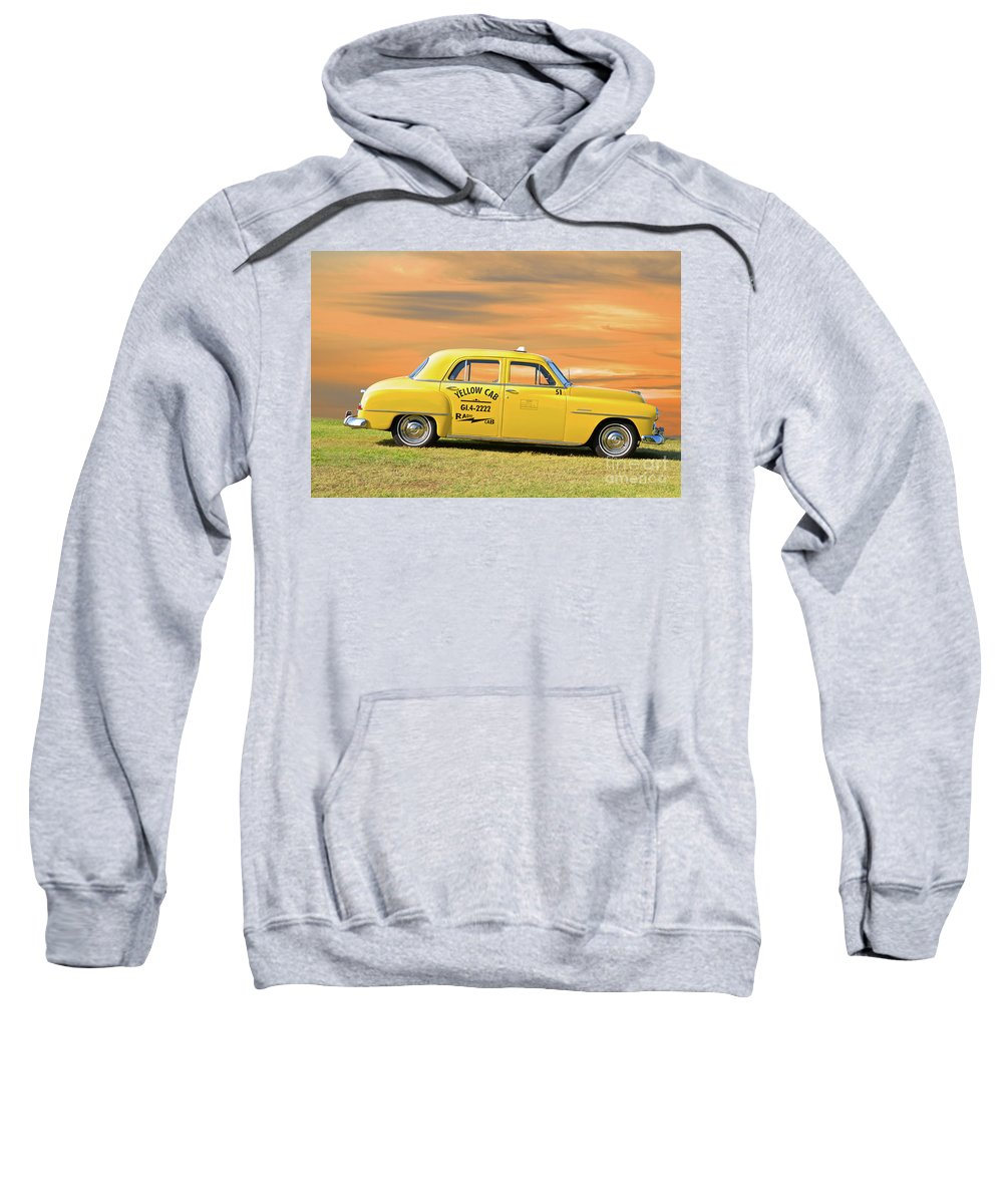 Automobile Sweatshirt featuring the photograph 1951 Plymouth Sedan 'yellow Cab' by Dave Koontz