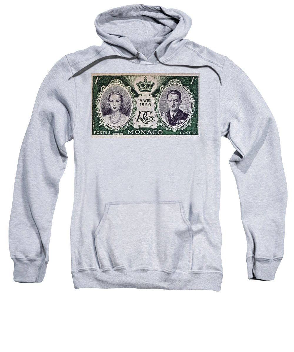 1956 Sweatshirt featuring the photograph 1956 Princess Grace Of Monaco Stamp II by Bill Owen