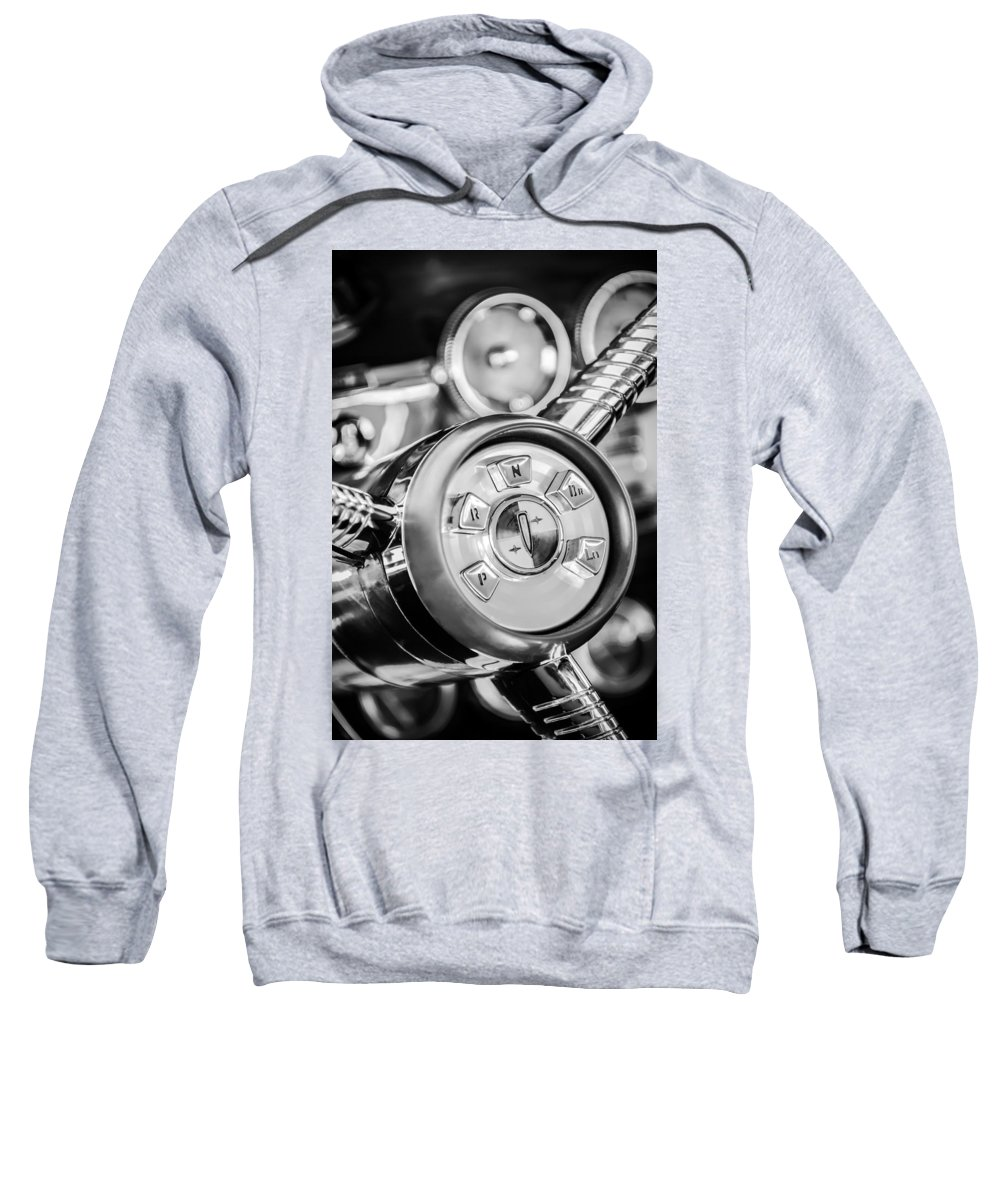 1958 Edsel Ranger Sweatshirt featuring the photograph 1958 Edsel Ranger Push Button Transmission 2 by Jill Reger