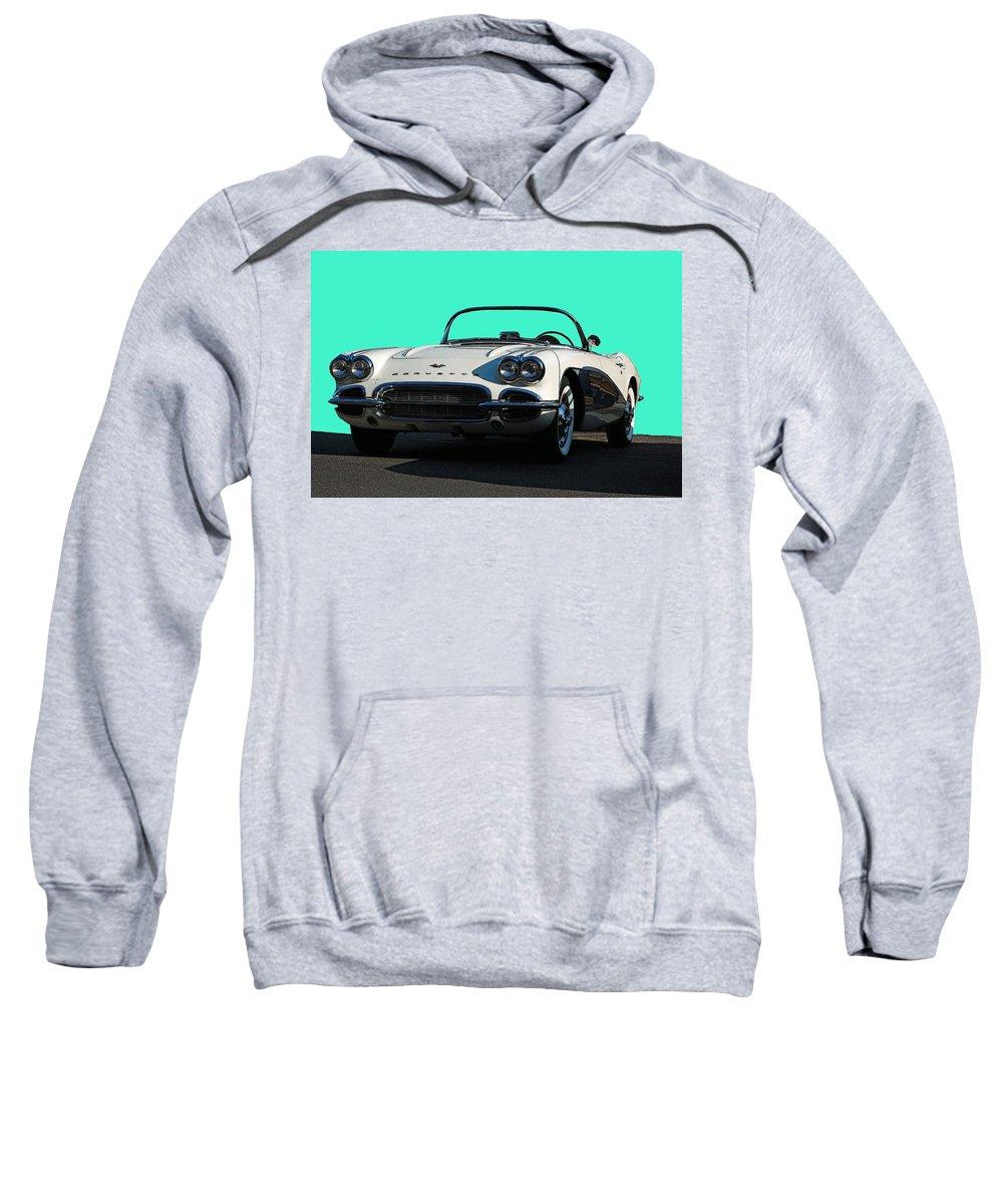 Corvette Sweatshirt featuring the photograph 1962 Corvette by Robert Meanor