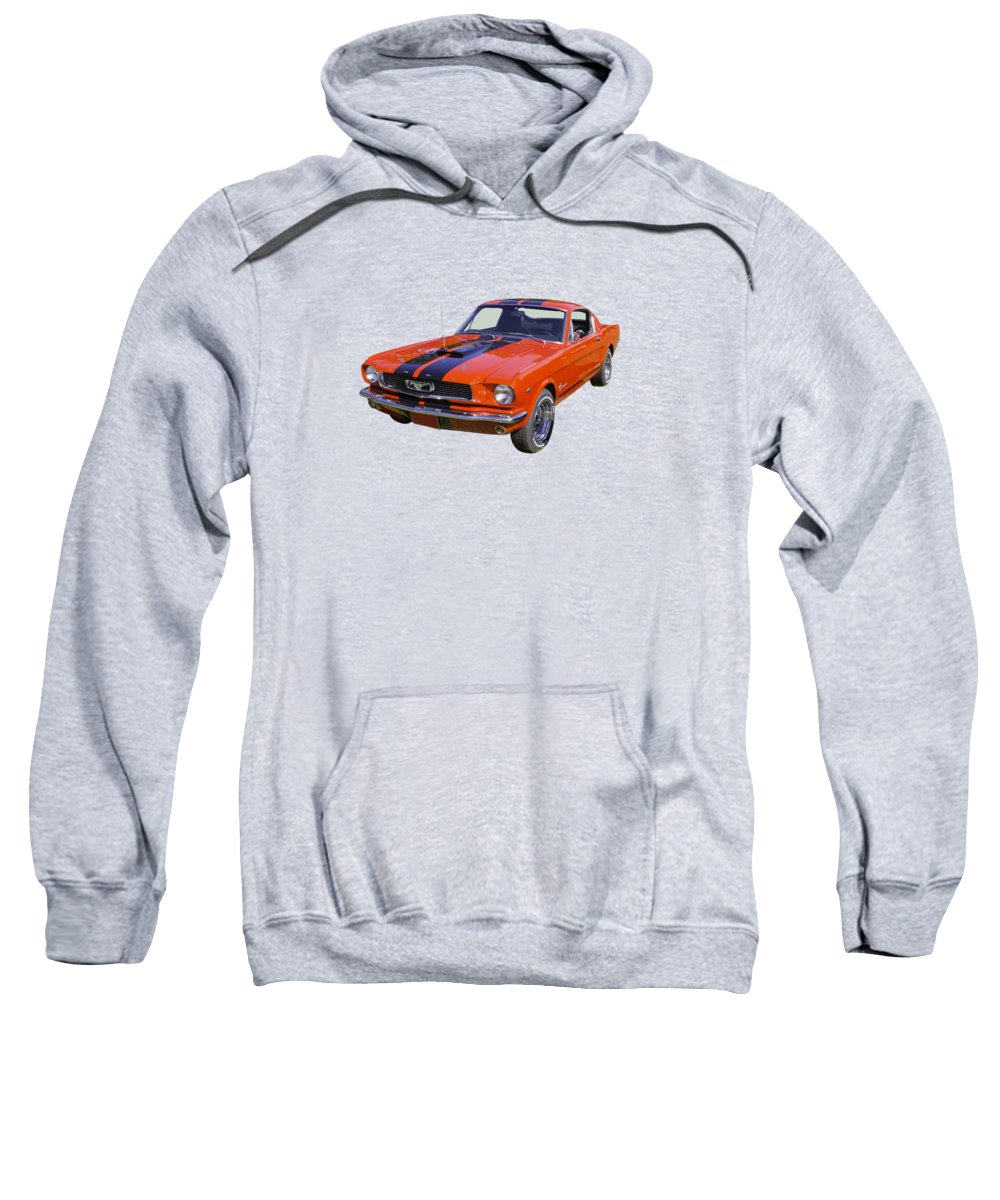 Auto Sweatshirt featuring the photograph 1966 Ford Mustang Fastback by Keith Webber Jr