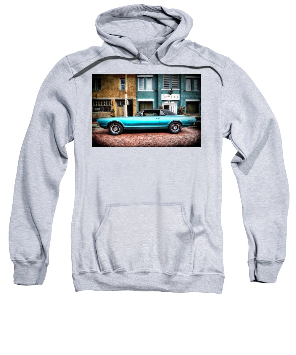 2015 Sweatshirt featuring the photograph 1967 Cougar Gt _hdr by Michael Rankin