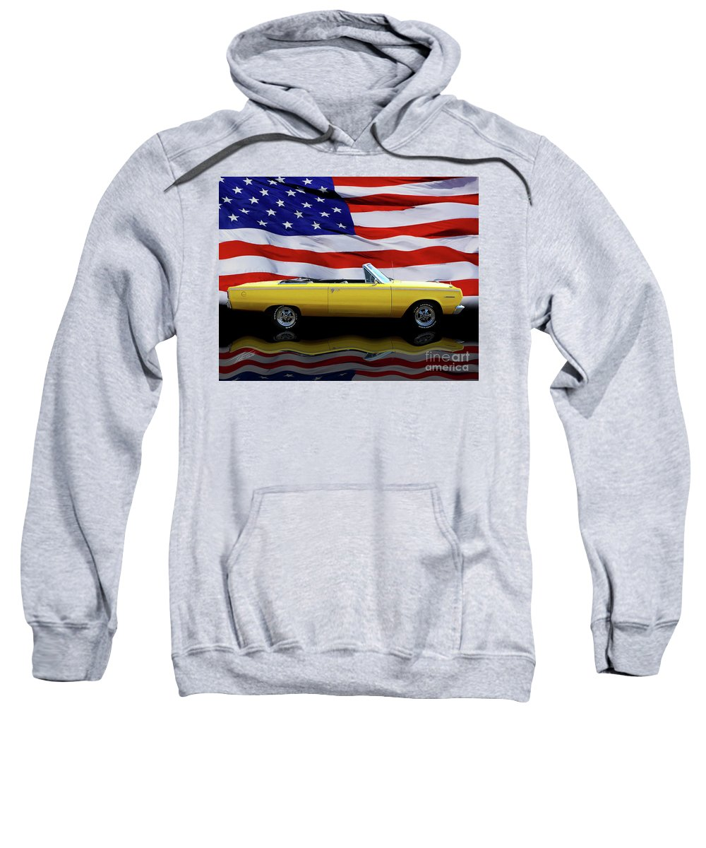 1967 Plymouth Belvedere Sweatshirt featuring the photograph 1967 Plymouth Belvedere Tribute by Peter Piatt