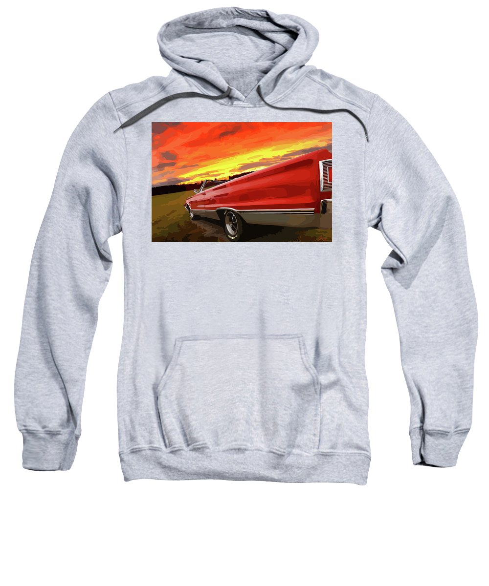 426 Sweatshirt featuring the photograph 1967 Plymouth Satellite Convertible by Gordon Dean II