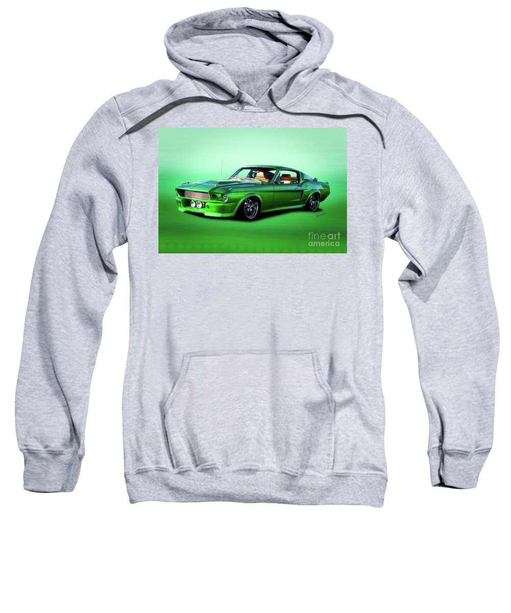 Automobile Sweatshirt featuring the photograph 1968 Ford Mustang Fastback II by Dave Koontz