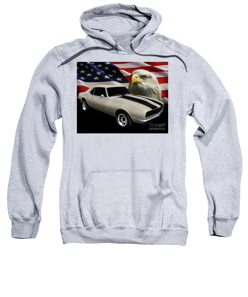 1969 Camaro Rs Sweatshirt featuring the photograph 1969 Camaro Rs Tribute by Peter Piatt