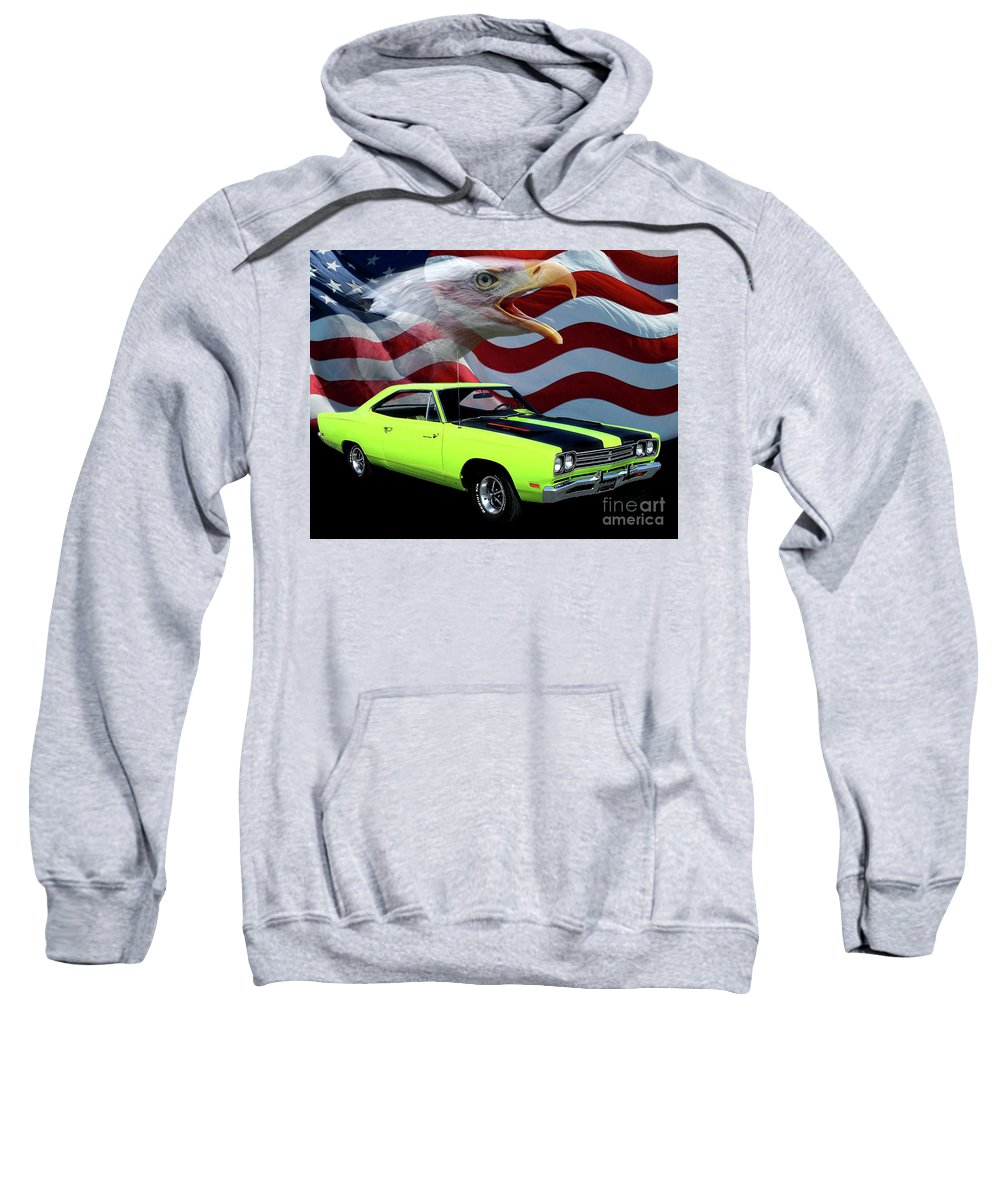 1969 Plymouth Roadrunner Sweatshirt featuring the photograph 1969 Plymouth Road Runner Tribute by Peter Piatt