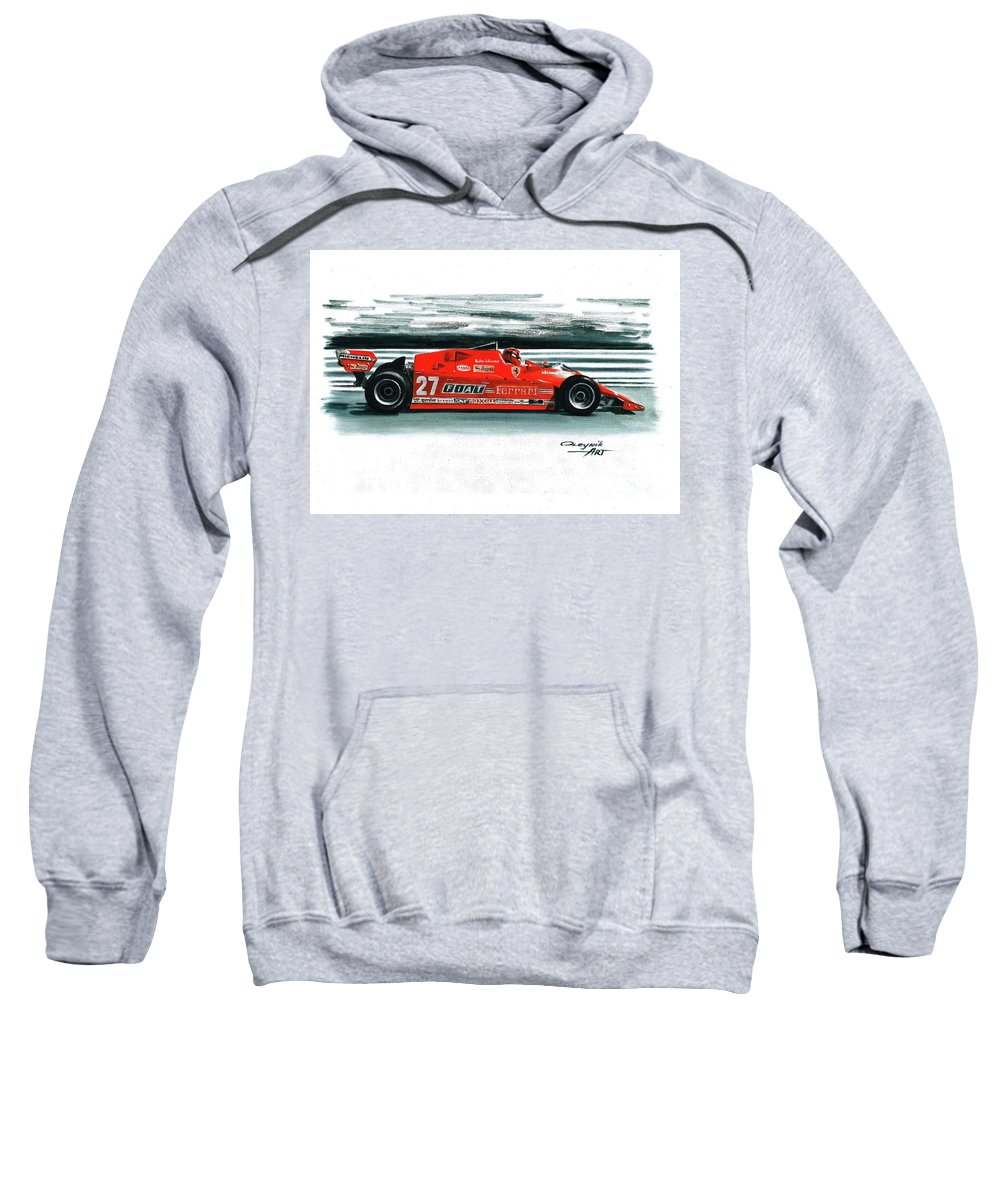 Ferrari F1 Collection Sweatshirt featuring the painting 1981 Ferrari 126cx by Artem Oleynik