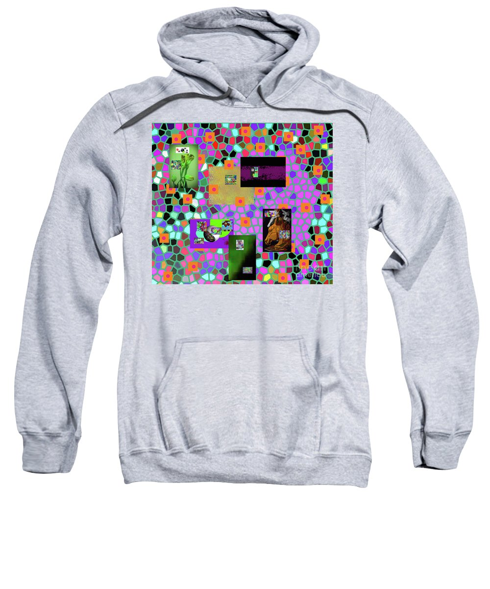 Walter Paul Bebirian Sweatshirt featuring the digital art 2-9-2016babcdefghijklmnopqrtuvwxyza by Walter Paul Bebirian
