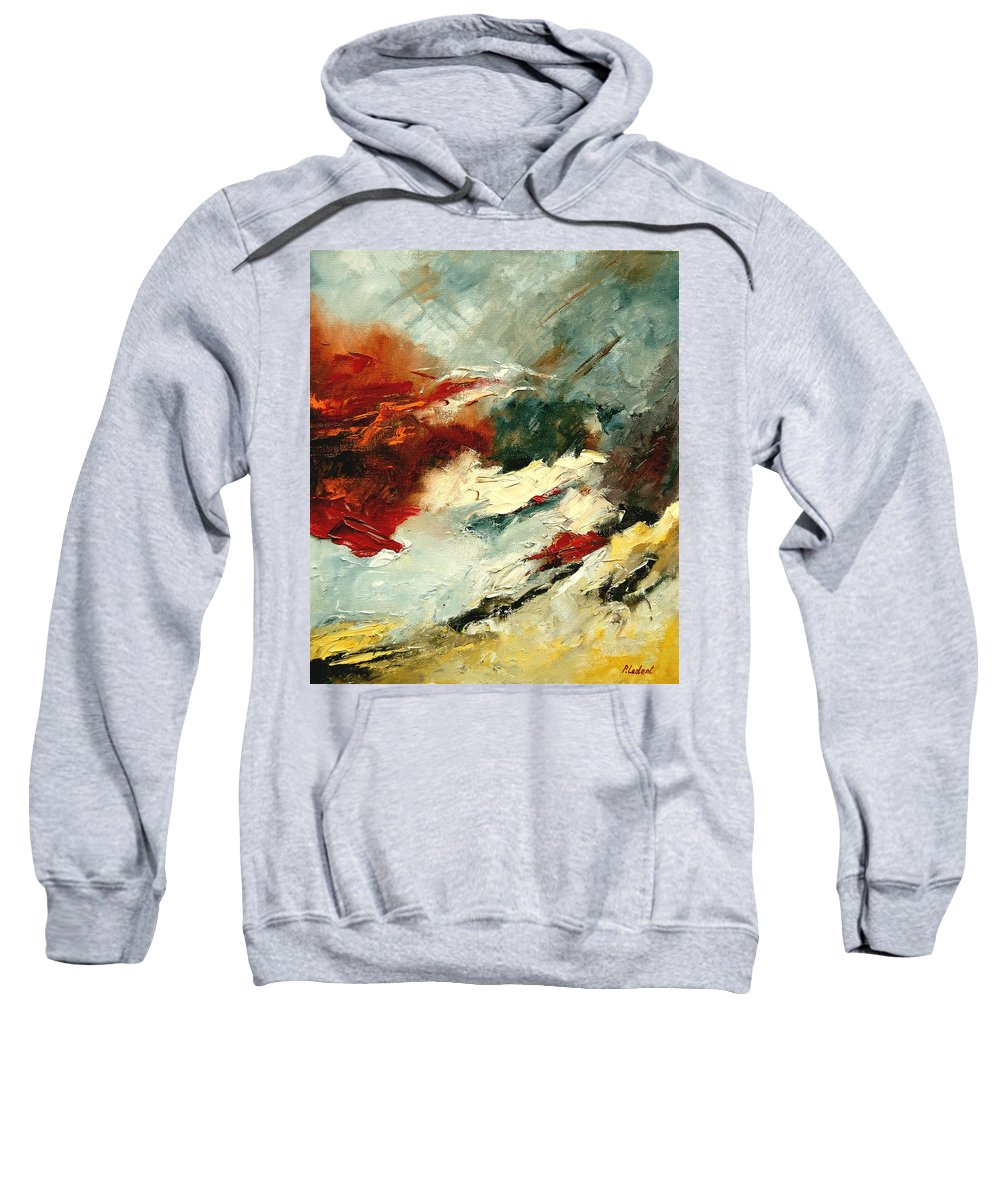 Abstract Sweatshirt featuring the painting Abstract 9 by Pol Ledent