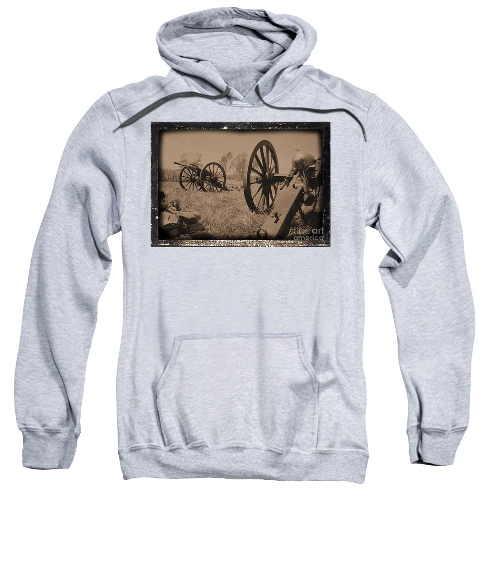 Civil War Sweatshirt featuring the photograph After The Battle by Tommy Anderson