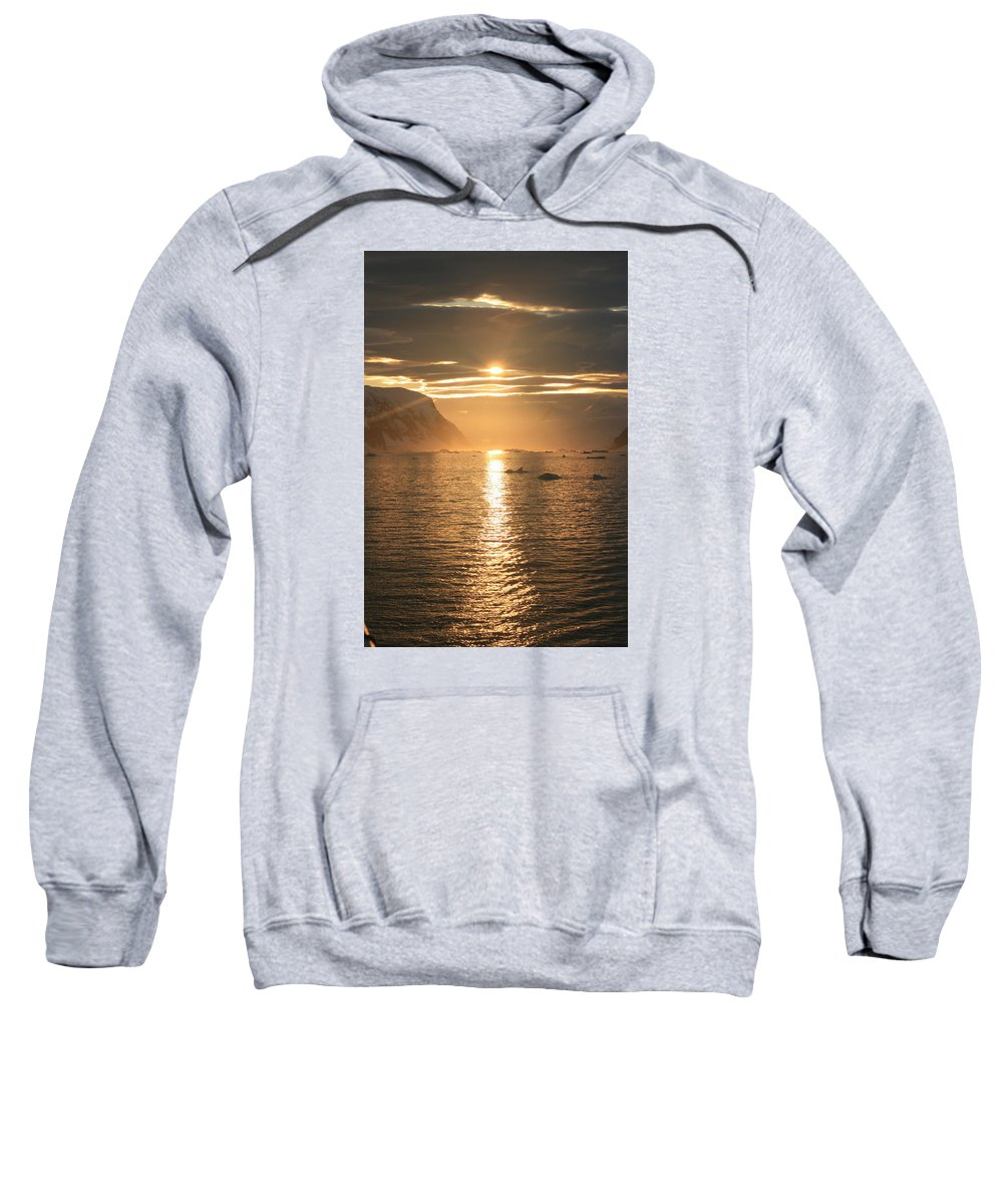 Antarctica Sweatshirt featuring the photograph Antarctic Sunset by Andrew Parker