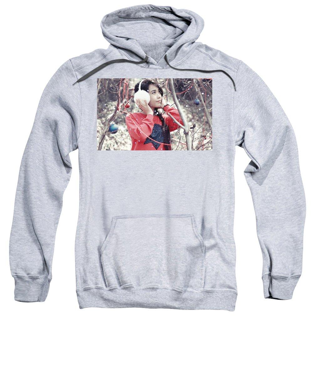 Asian Sweatshirt featuring the digital art Asian by Bert Mailer
