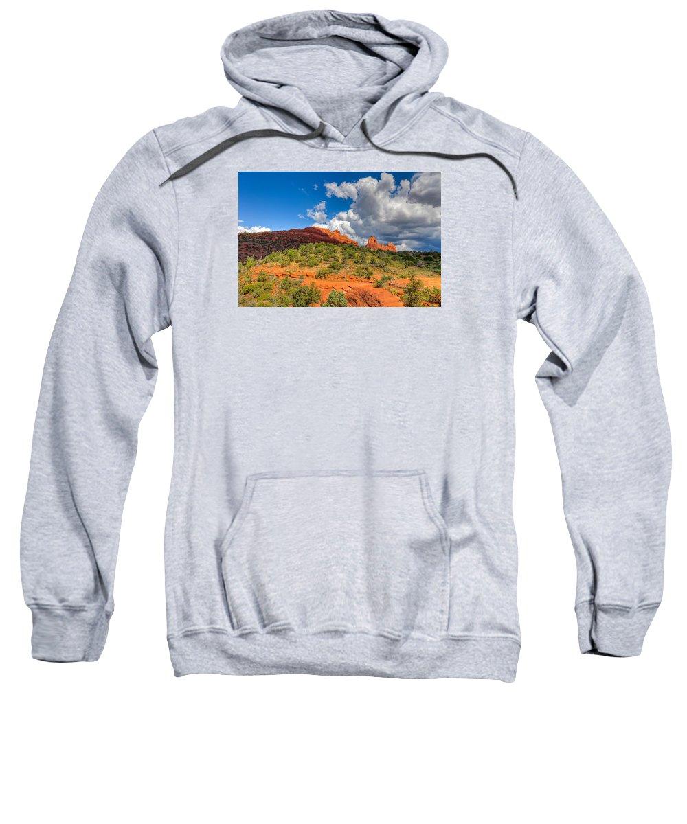 Arizona Sweatshirt featuring the photograph Az-sedona-schnebly Hill Rd-huckaby Trail by Arlene Waller