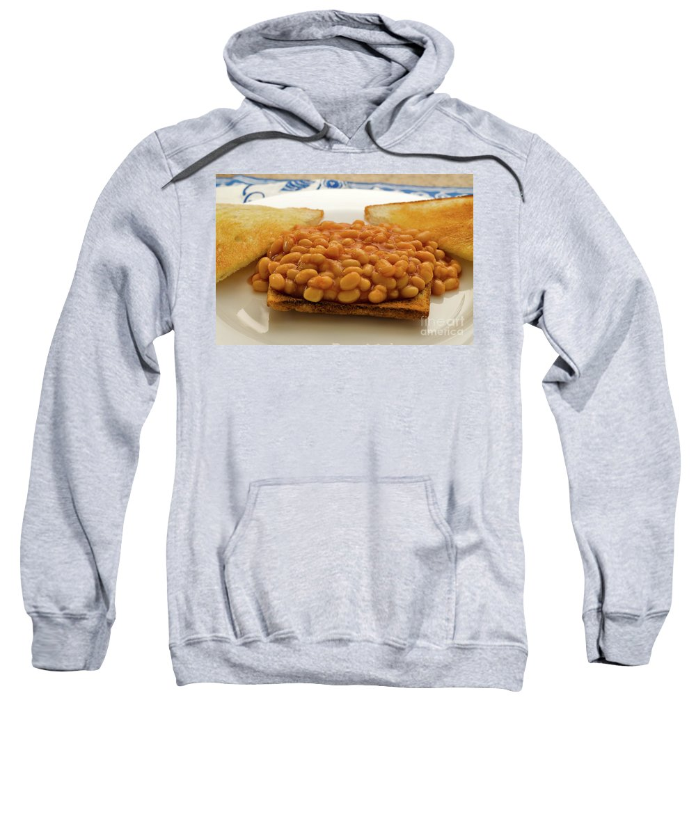 Baked Sweatshirt featuring the photograph Baked Beans On Toast by Louise Heusinkveld
