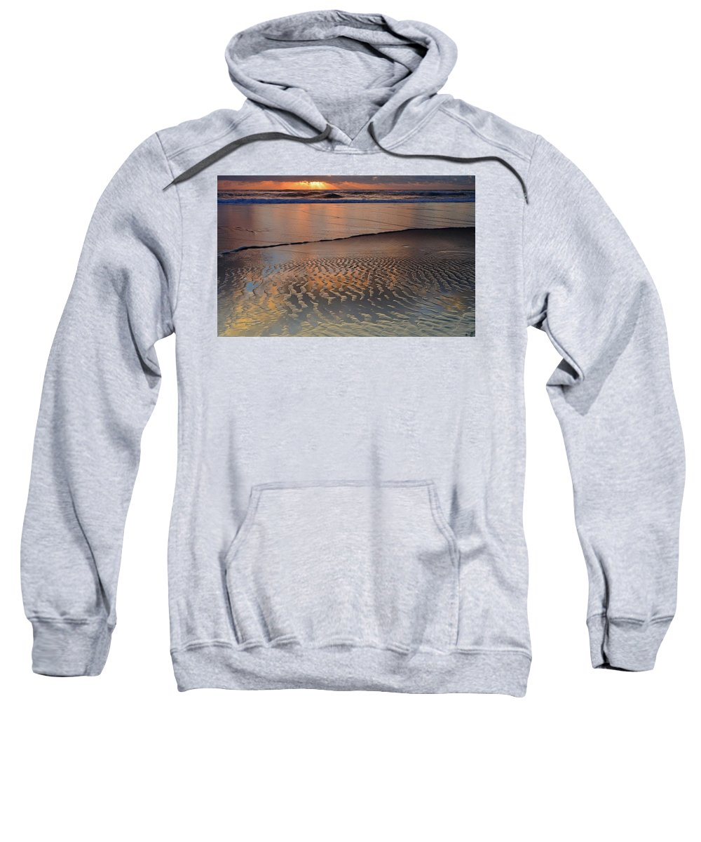 Beach Sweatshirt featuring the digital art Beach by Bert Mailer