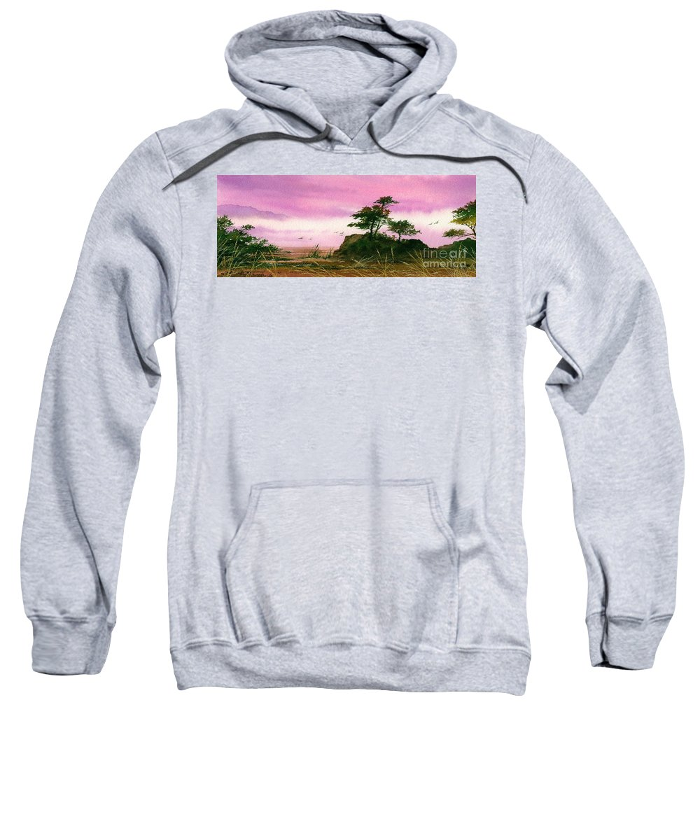 Landscape Print Sweatshirt featuring the painting Beautiful Shore by James Williamson