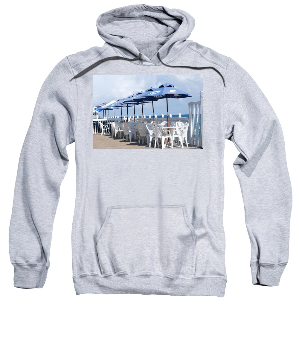 Chairs Sweatshirt featuring the photograph Beer Unbrellas by Rob Hans