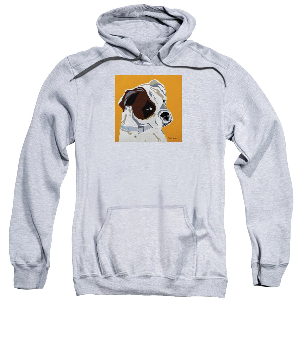 Boxer Sweatshirt featuring the painting Boxer by Slade Roberts