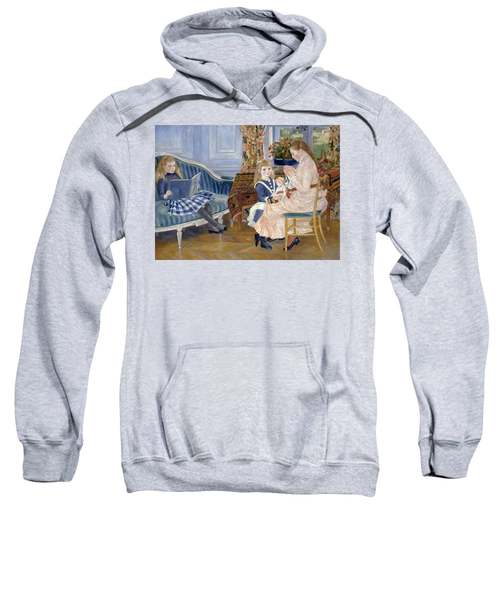 Pierre-auguste Renoir Sweatshirt featuring the painting Children's Afternoon At Wargemont by Pierre-Auguste Renoir