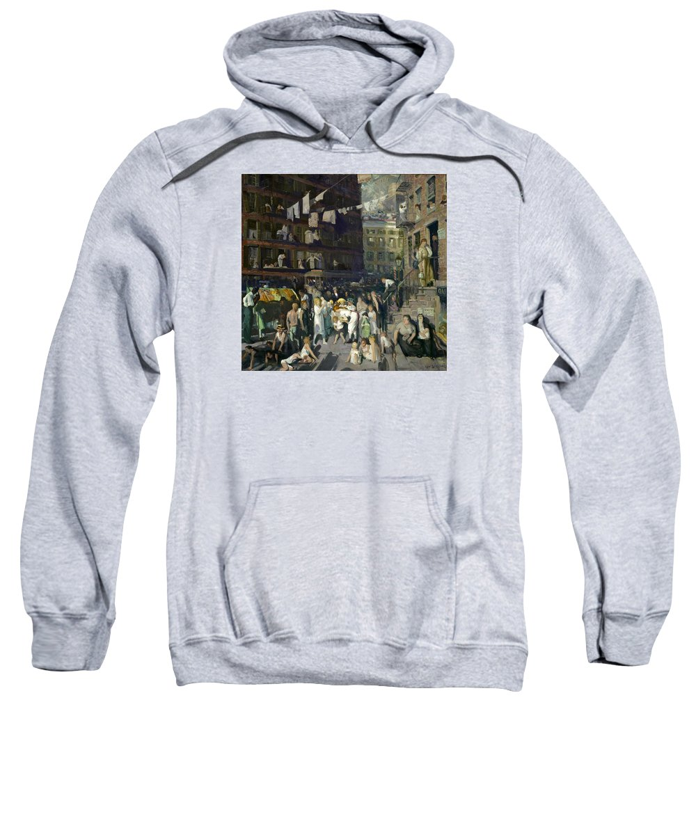 George Bellows Sweatshirt featuring the painting Cliff Dwellers by George Bellows