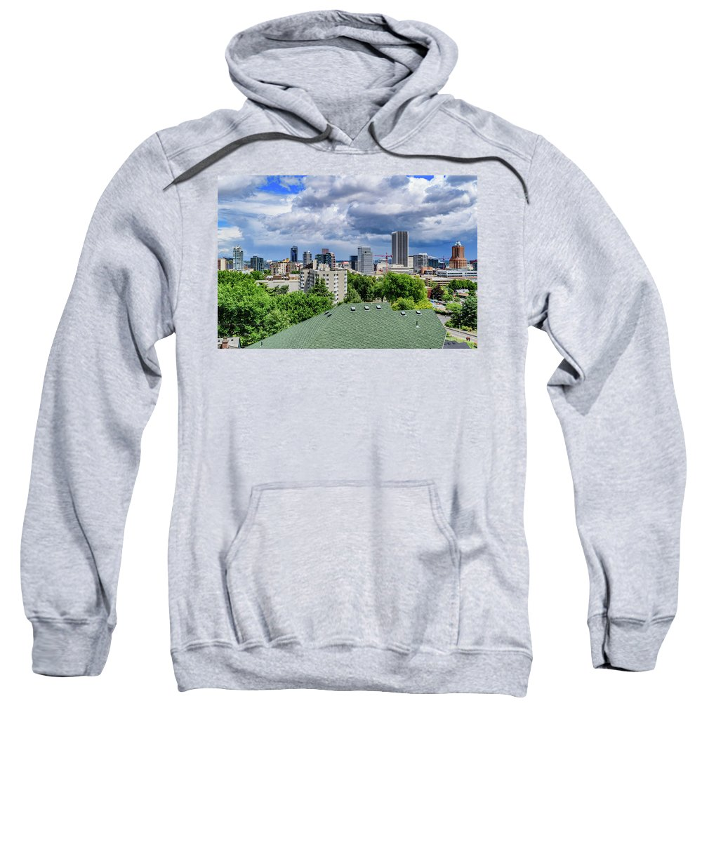 Portland Sweatshirt featuring the photograph Downtown Portland by Cityscape Photography