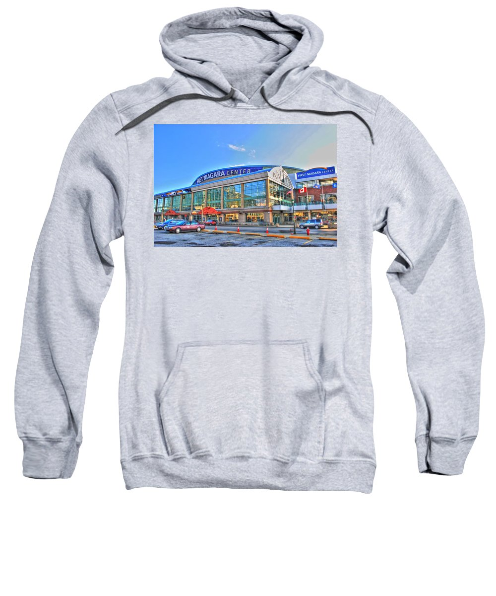First Niagara Center Sweatshirt featuring the photograph First Niagara Center by Michael Frank Jr