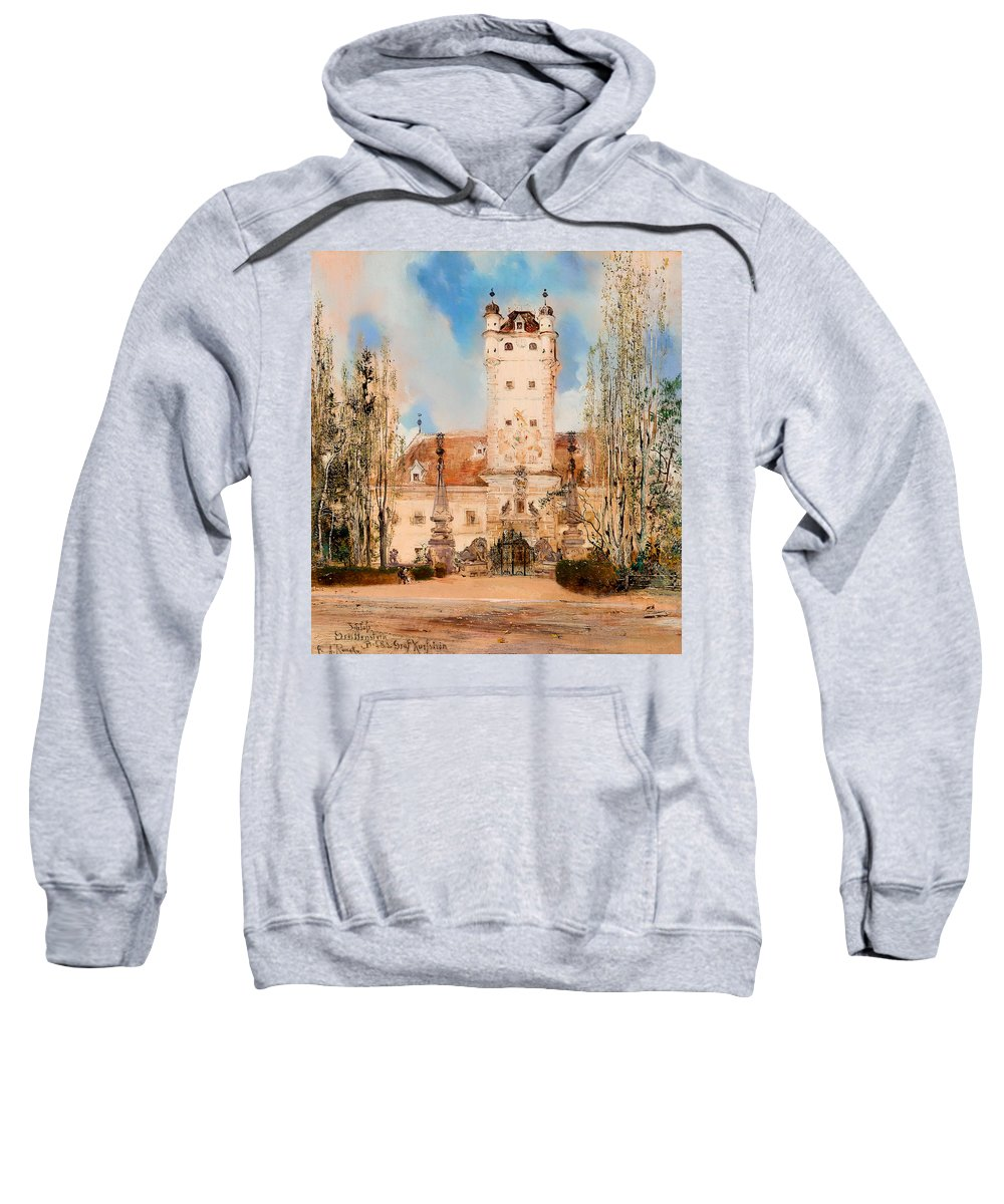 Painting Sweatshirt featuring the painting Greillenstein Castle by Mountain Dreams