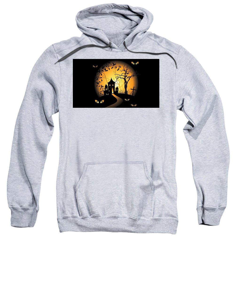Halloween Sweatshirt featuring the digital art Halloween by Bert Mailer