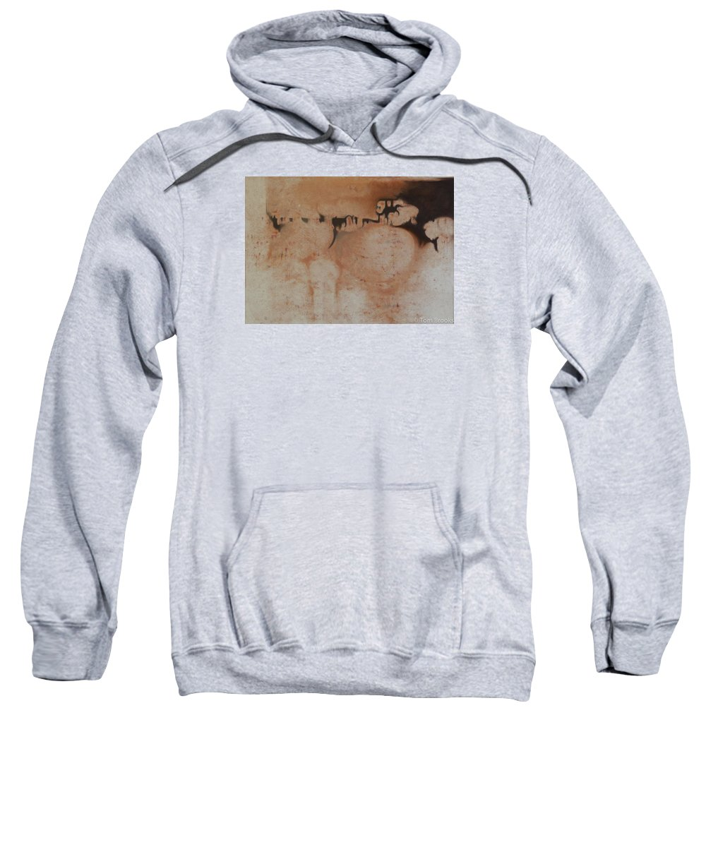 Tom Brooks Sweatshirt featuring the painting Heart by Tom Brooks
