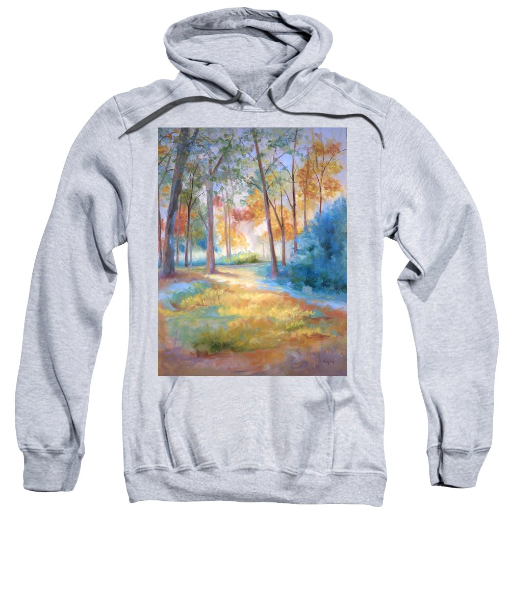 Wooded Paths Sweatshirt featuring the painting Homeward by Ginger Concepcion