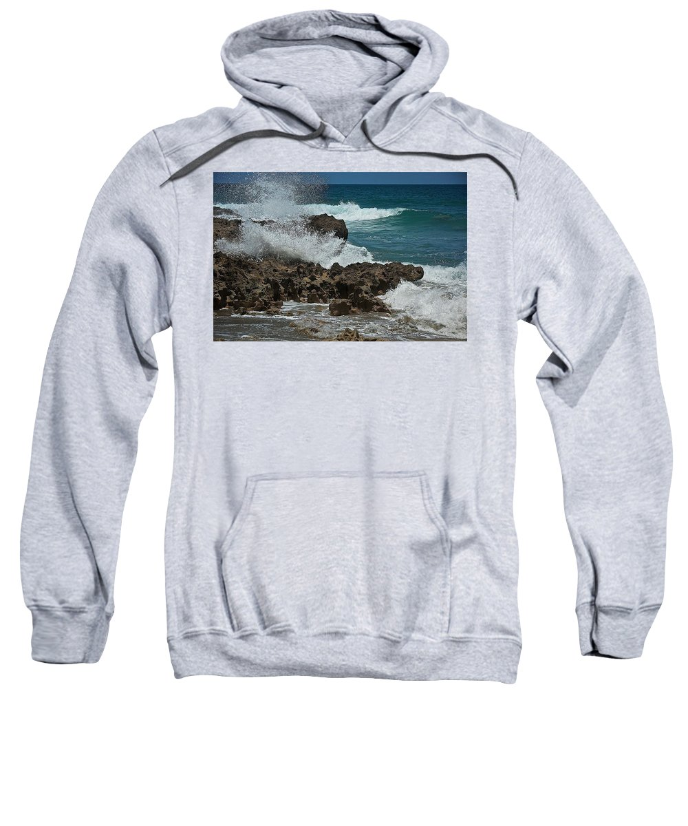 Beach Sweatshirt featuring the photograph Hutchinson Island, Fl by Colleen Fox