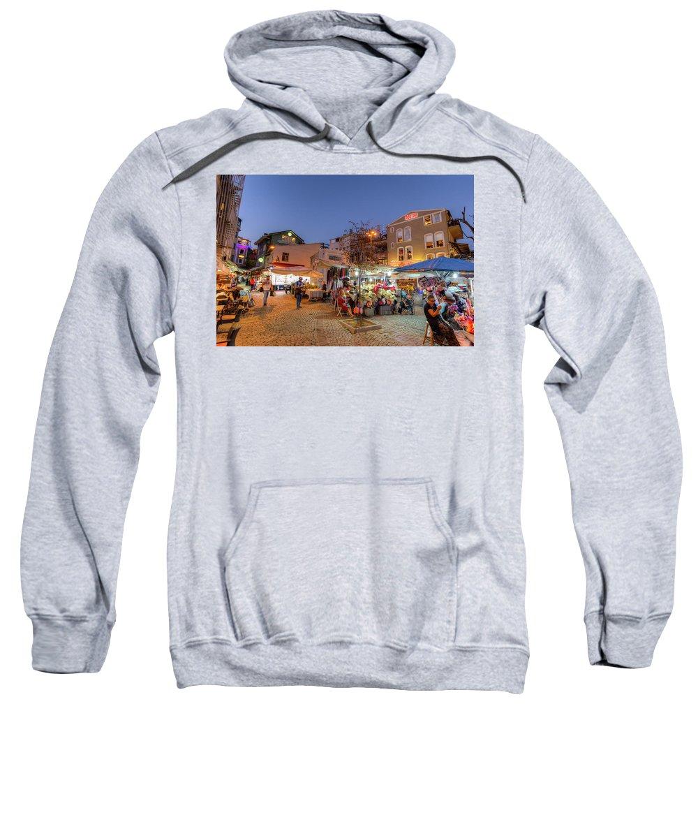 Istanbul Sweatshirt featuring the photograph Istanbul At Night by David Pyatt