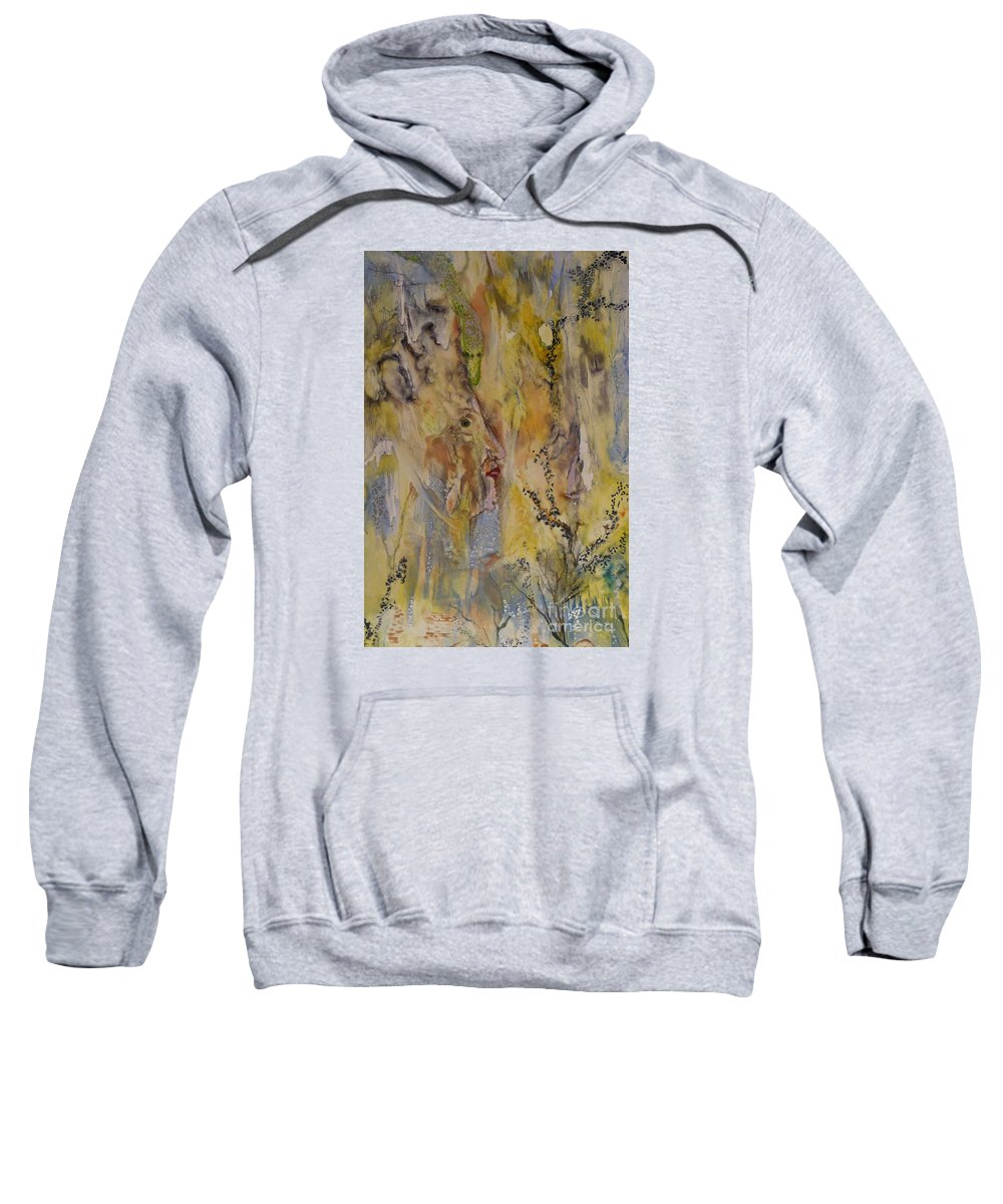 Spiritual Sweatshirt featuring the painting Journey Of The Soul by Heather Hennick