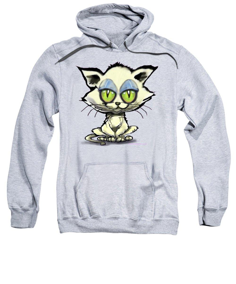 Kitten Sweatshirt featuring the digital art Kitten by Kevin Middleton