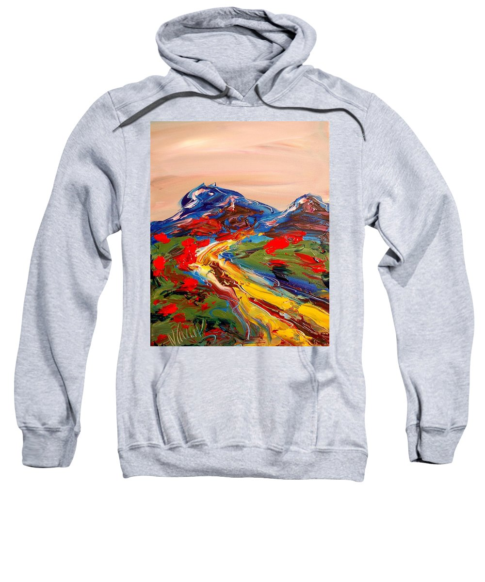Surreal Framed Prints Sweatshirt featuring the painting Landscape by Mark Kazav