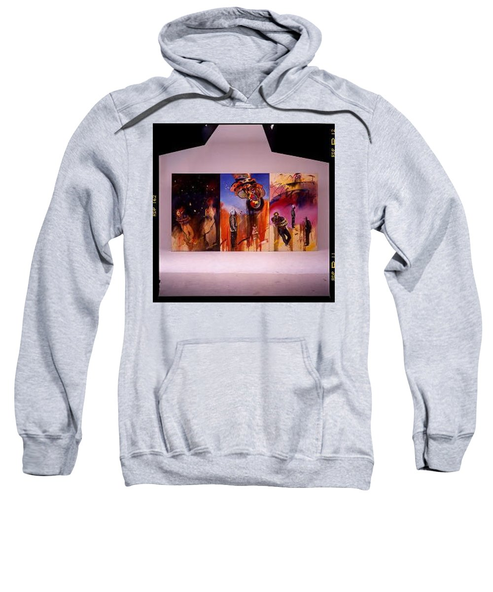 Canvas Sweatshirt featuring the painting Love Hurts by Charles Stuart