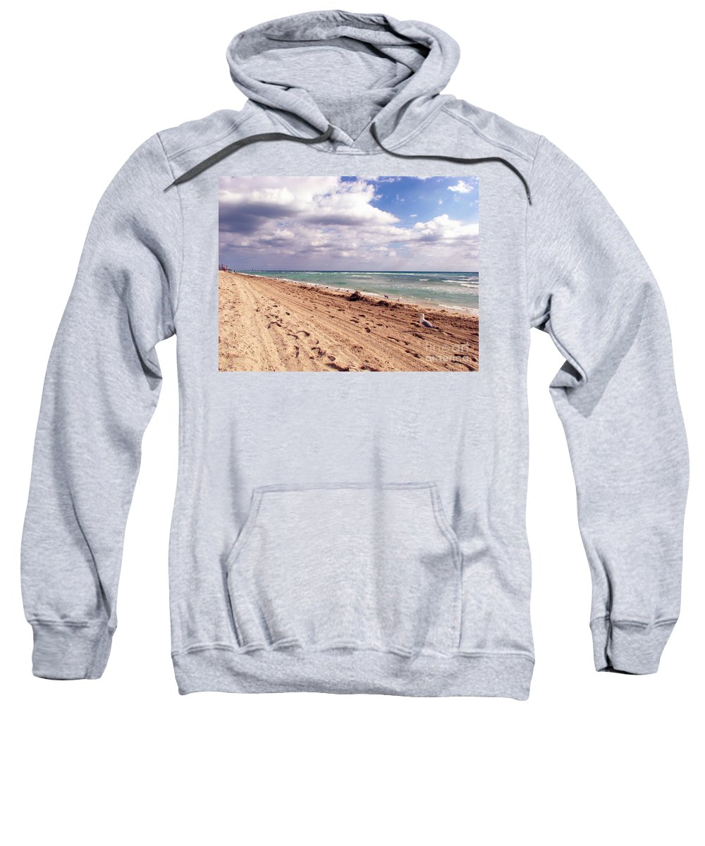 Beaches Sweatshirt featuring the photograph Miami Beach by Amanda Barcon